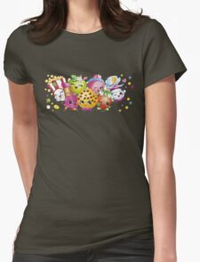 Shopkins lineup Womens Fitted T-Shirt