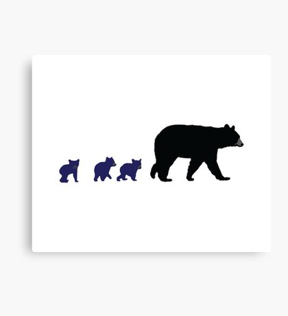 Mama Bear and Her Chicago Cubs Canvas Print
