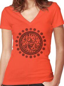 Garuda's Victory V01 - Black Edition Women's Fitted V-Neck T-Shirt