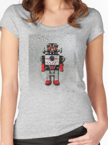 Vintage Robot 3 iPhone case Women's Fitted Scoop T-Shirt