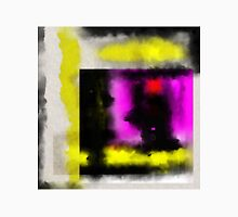 Confined - Abstract, geometric painting in yellow, black, white, red and purple Unisex T-Shirt