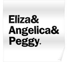 Hamilton - Eliza & Angelica & Peggy   White Poster