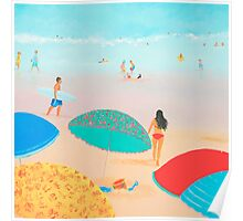beach painting - Ocean breeze, salty air Poster