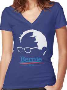 Bernie Sanders - High Quality Resolution Women's Fitted V-Neck T-Shirt