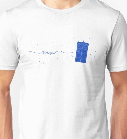 Fantastic TARDIS (in blue) Unisex T-Shirt