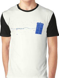 Geronimo to the TARDIS (in blue) Graphic T-Shirt