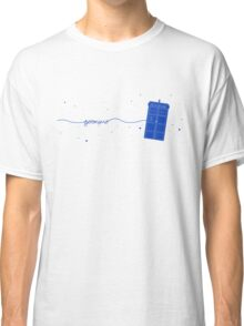 Geronimo to the TARDIS (in blue) Classic T-Shirt