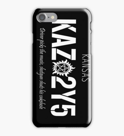 Supernatural- Impala's License Plate iPhone Case/Skin
