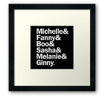 Bunheads - Michelle & Fanny & Boo & Sasha & Melanie & Ginny | Black Framed Print