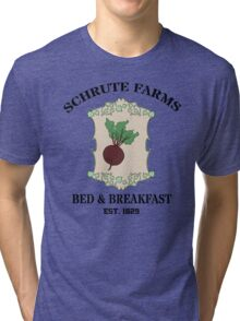 Schrute Farms Bed And Breakfast - Dwight Schrute - The Office Tri-blend T-Shirt