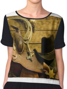Old West Marshal Women's Chiffon Top
