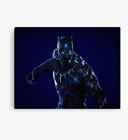 Black Panther Low Poly Canvas Print