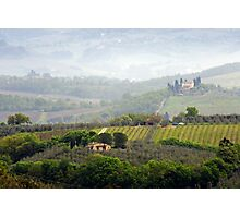 Misty Morning, Tuscany Photographic Print