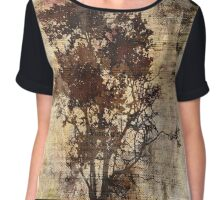 Trees sing of Time - Vintage Chiffon Top