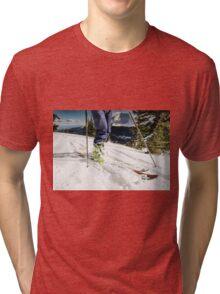back country ski tour Tri-blend T-Shirt