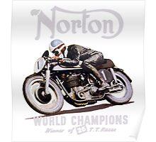 NORTON TT VINTAGE ART WINNER OF 26 RACES Poster
