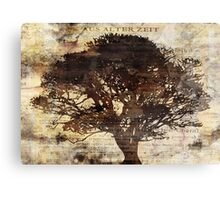Trees sing of Time - Vintage 2 Canvas Print
