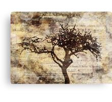 Trees sing of Time - Vintage 3 Canvas Print