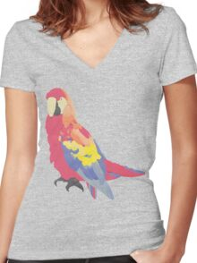 Parrot Flies by Algernon Cadwallader Women's Fitted V-Neck T-Shirt