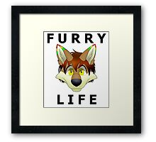 Furry Life T-shirt Framed Print