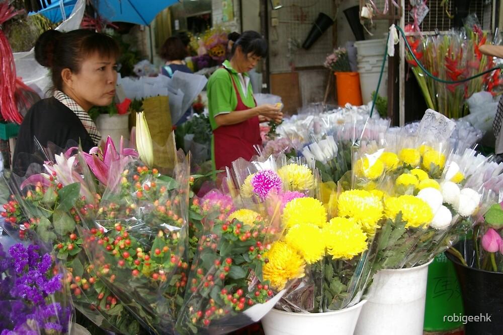 Flower market vendor by robigeehk