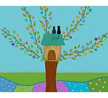 Tree House - Cats  Photographic Print