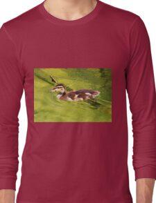 duckling swimming Long Sleeve T-Shirt