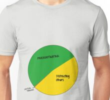 Procrastinating, distracting others, critical thinking Unisex T-Shirt