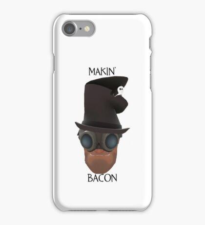 "TF2 Gibus Engineer ""Makin' Bacon"" iPhone Case/Skin"