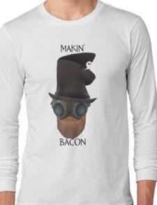 "TF2 Gibus Engineer ""Makin' Bacon"" Long Sleeve T-Shirt"