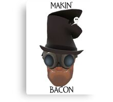 "TF2 Gibus Engineer ""Makin' Bacon"" Canvas Print"