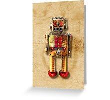 Vintage Robot 2 iPhone case Greeting Card