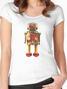 Vintage Robot 2 T-Shirt Women's Fitted Scoop T-Shirt
