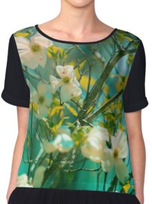 Oceans in Bloom Chiffon Top