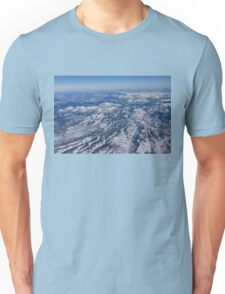 Mountains as Far as the Eye Can See - Flying Over the Rockies Unisex T-Shirt