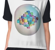 Colourful Cubes and Bubble Chiffon Top