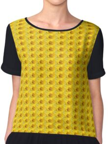 Yellow Daffodil Closeup Chiffon Top