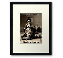 Japanese geisha phonograph Framed Print