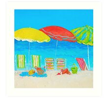 Beach painting - Summer Days Are Here Again Art Print