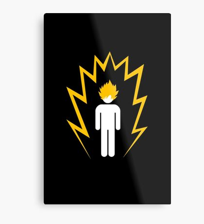 Caution: Super Saiyan Metal Print
