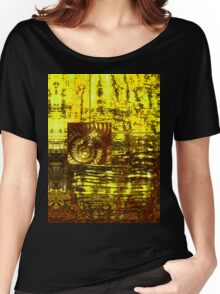 Evolution - Ammonite in Gold Women's Relaxed Fit T-Shirt