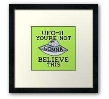 UFO - H Framed Print