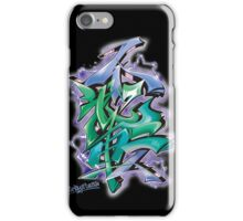 Japanese KANJI Graffiti Futaiten (bluegreen col) iPhone Case/Skin