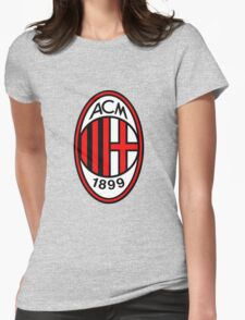 AC Milan Badge Womens Fitted T-Shirt