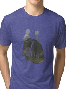 Jamie and Claire silhouettes Tri-blend T-Shirt