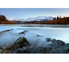 Coronet Peak from The Shotover River Photographic Print