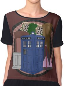 The Forgotten TARDISes Chiffon Top