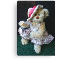 Miss Belinda Bear Canvas Print