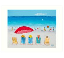 Beach Art - On The Beach Art Print