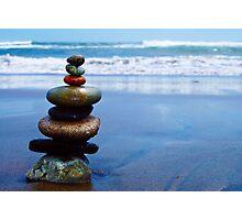 Stacked Stones Photographic Print